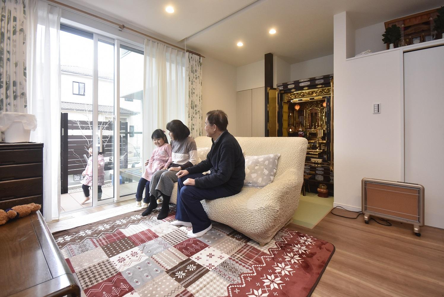 想いが溢れる家二世帯住宅